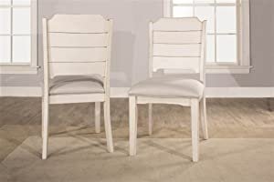 Hillsdale Furniture Clarion Dining Chairs, Set of 2, Sea White