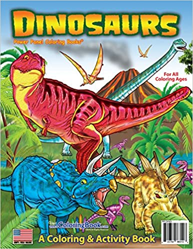 Dinosaurs coloring book 8 5x11 coloringbook com really big coloring books 0822754663108 amazon com books