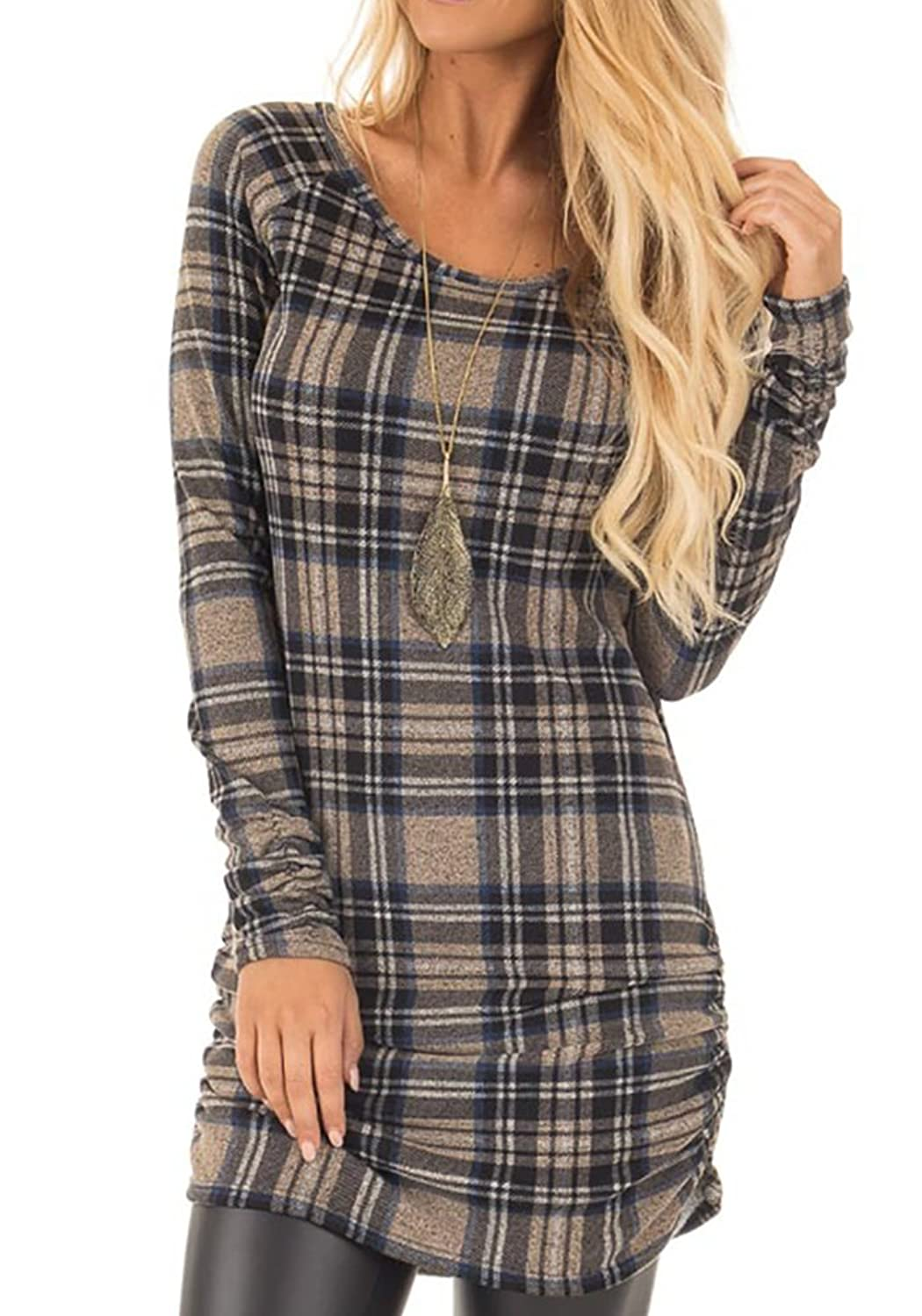 a38831035dbbe Top 10 wholesale Cotton Plaid Tunic - Chinabrands.com