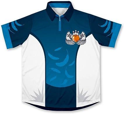 ScudoPro Angel Bowling Jersey Camisa de Bolos -: Amazon.es ...