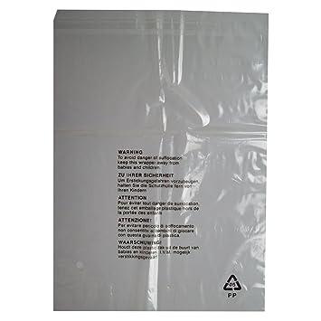 50 bolsas de embalaje con advertencia de seguridad, cierre ...