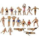 情景コレクション 人間 人形 人物 海水浴の人々 人間フィギュア塗装人 1:87 40本入り ビーチの人々 ビーチコレクション 鉄道模型 建物模型 ジオラマ DIY(P8719))