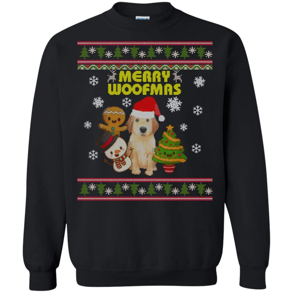 TeeAbelia Merry Woofmas Dogs Lovers X-mas 2018 Gift Shirt