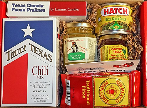 Savory Southwest Foods Gourmet Gift Box - Salsa, Green Chile, Cactus Jelly, and More