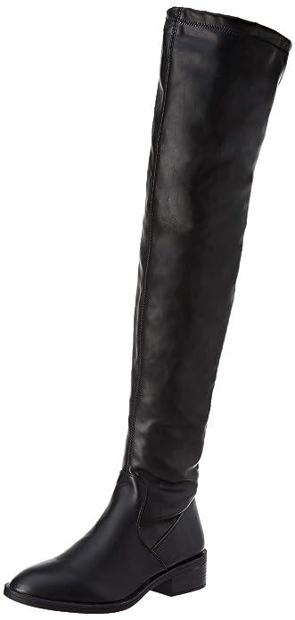 215f6d19e7f1f5 Pimkie Bottes cuissardes simili cuir noir Femme - Taille 38: Amazon ...