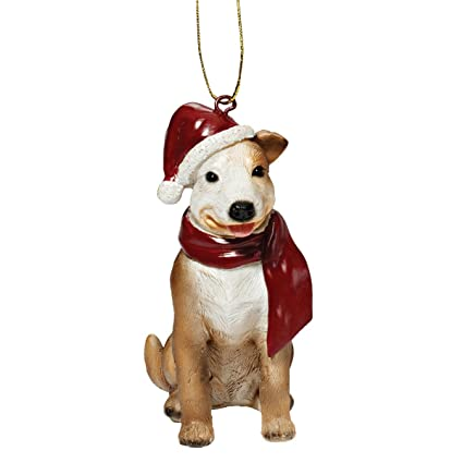 2cc8b9f9000 Image Unavailable. Image not available for. Color  Design Toscano Christmas  Ornaments - Xmas Pitbull Holiday Dog ...