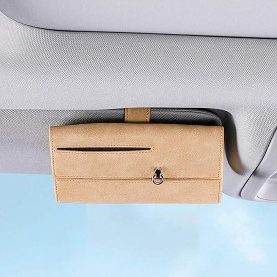 Merourii Universal Car Glasses Box Auto Sonnenbrillenhalter Aufbewahrungsbox Auto Sonnenblende Brillenetui Brillenbox Mit Kartenhalter Auto