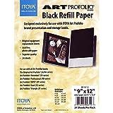 Itoya Profolio Black Paper Refill 9X12 24/Pk