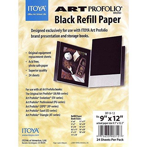 Itoya Profolio Black Paper Refill 9X12 24/Pk by ITOYA