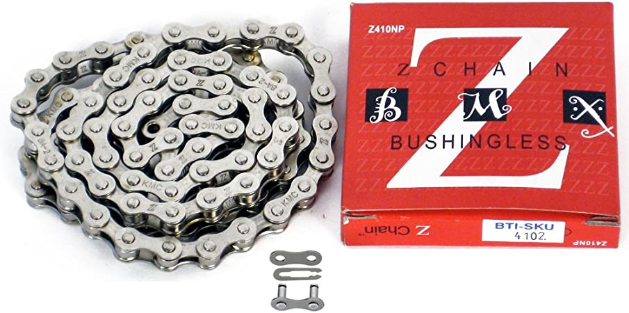 KMC Single Speed Bike Chain 112 Links Red KMC-Z410RED-112L