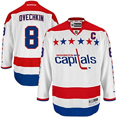 new style 2e0f4 cc3c7 Washington Capitals Alexander Ovechkin Youth White Alternate Premier Jersey
