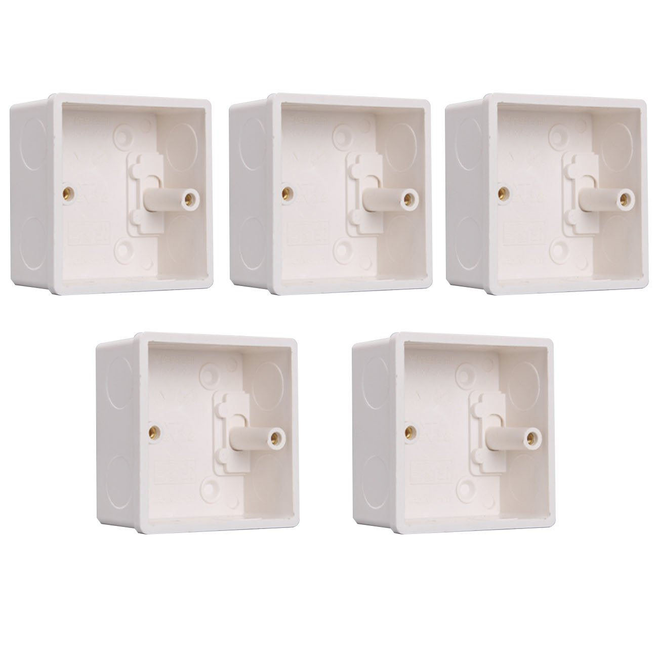 86x86x40mm PVC Junction Box, Recessed Electrical/Outlet Mounting Box, Flush-Type Wall Mount Cassette for Switch Socket Base
