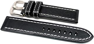 product image for DaLuca OEM Style Leather Watch Strap - Black : 24mm