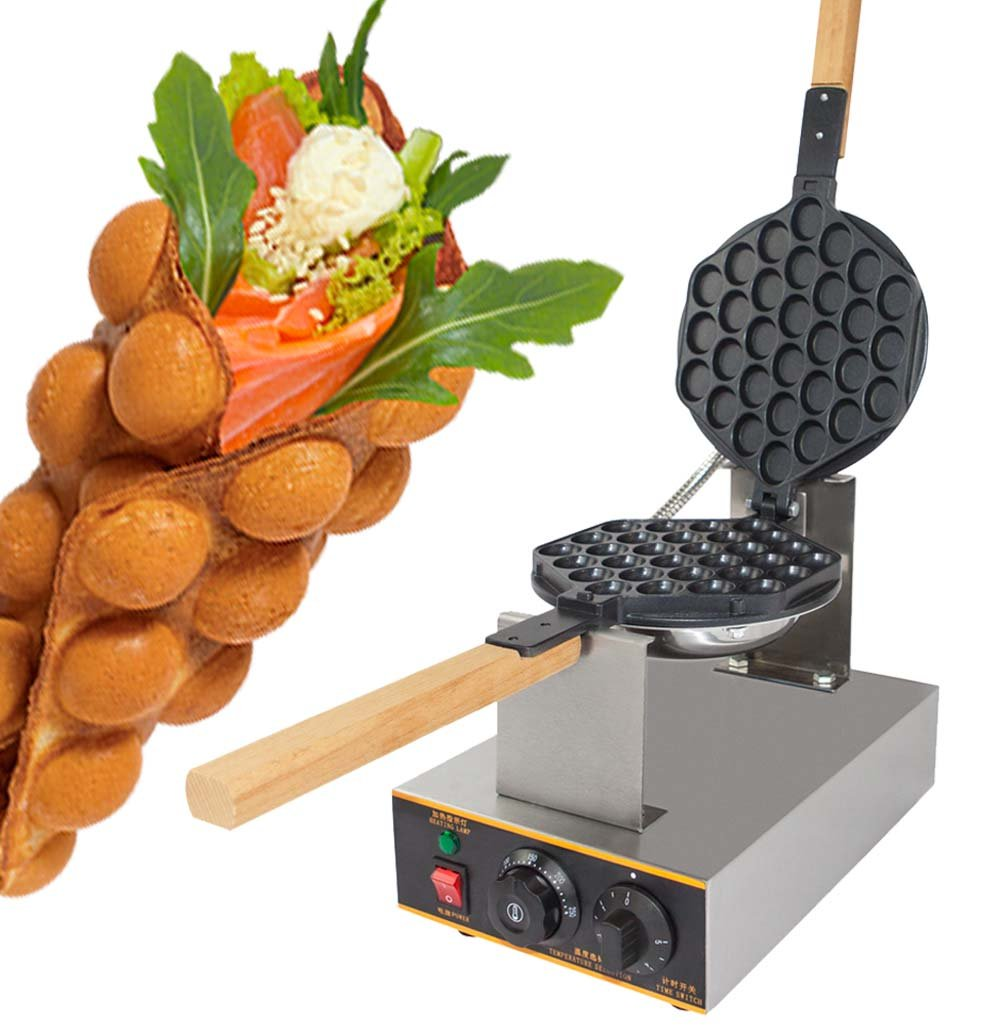 Waffle Maker Professional Rotated Nonstick (Grill/Oven for Cooking Puff, Hong Kong Style, Egg, QQ, Muffin, Cake Eggettes and Belgian Bubble Waffles) (110V with US Plug) CHINA B01M2183SP