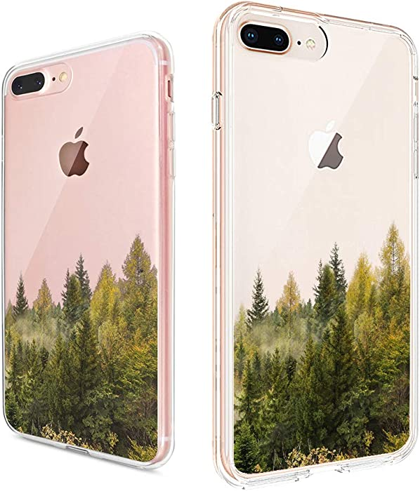 uCOLOR Forest Tree Clear Case Compatible with iPhone 8 Plus / 7 Plus / 6S/6 Plus Protective Soft TPU Bumper+Hard PC Back Cover for iPhone 7 Plus/8 Plus/6S Plus/iPhone 6 Plus (5.5 inch)
