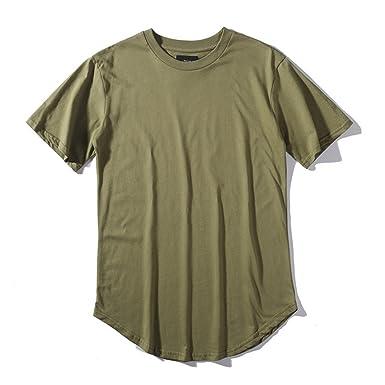 Amazon.com  Streetwear Men Extended Kanye West T-Shirt Cotton Swag ... 9dc90e7abc1