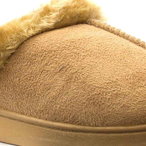 Dr Keller Womens Chestnut Faux Fur Mule Slipper Beige OdGMv0tRcF