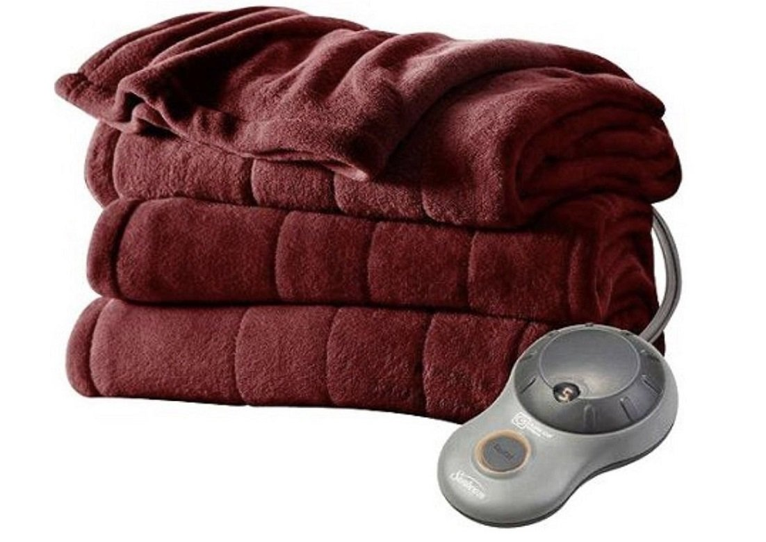Sunbeam Ultra Soft Imperial Plush Heated Blanket • Two Controls • Red • ‌KING