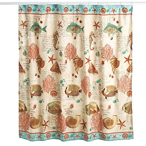 Coastal Seaside Vintage Shower Curtain (Vintage Seaside)