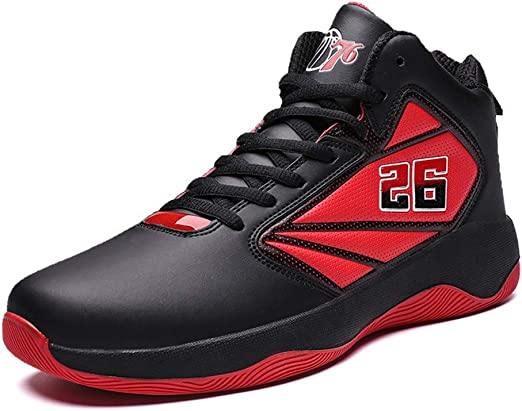 YSZDM Zapatos Mans Baloncesto, Alto Ayudar a los Zapatos de Correr ...