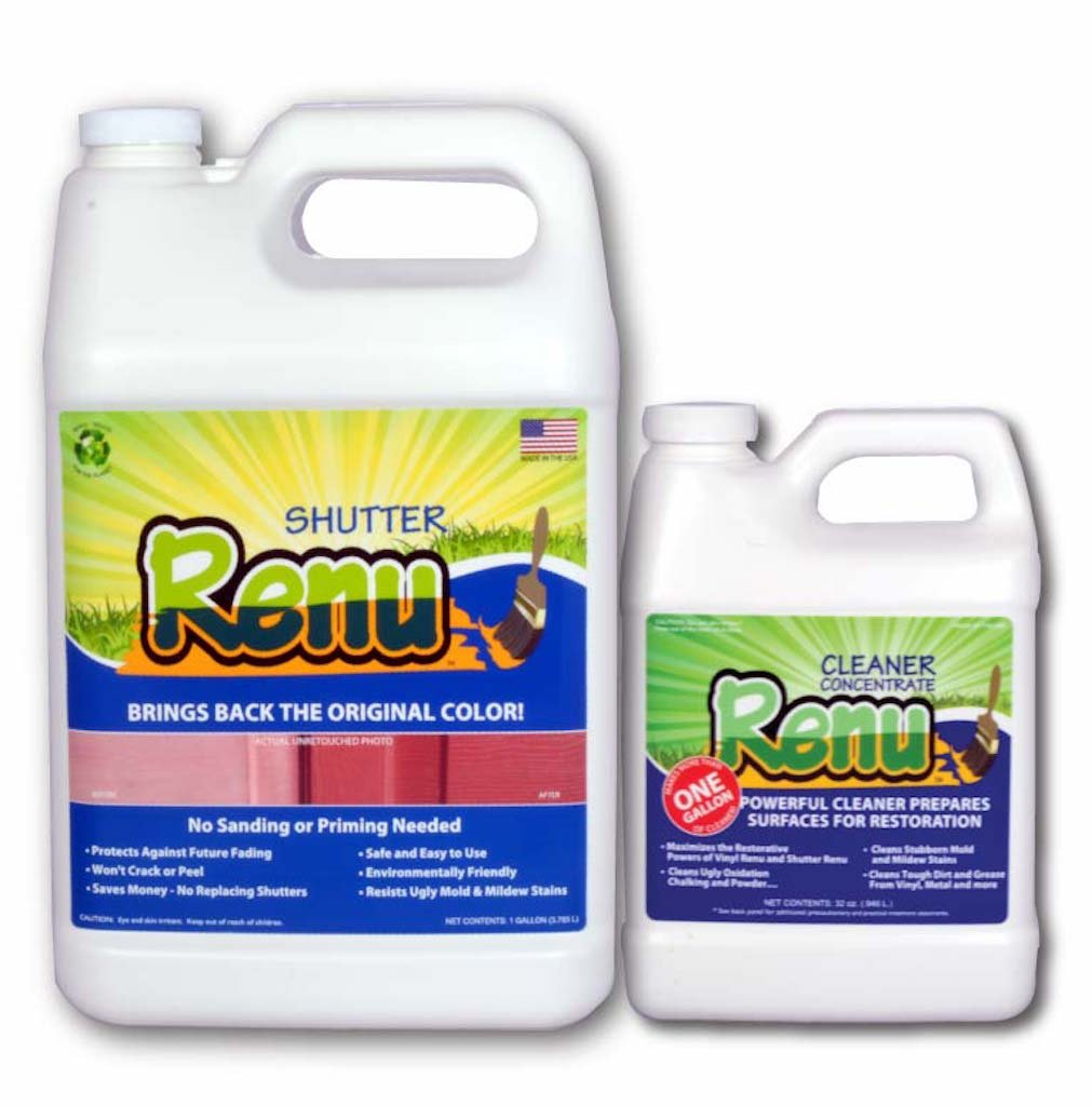 Shutter Renu™ Shutter And Home Restoration Kit Will Bring Back The Beauty To 350 Sq Ft Of Faded Shutters, Faded Garage Doors, Faded Front Doors, Faded Patio Furniture And More. Shutter Renu's Aerospace And Marine Technology Will Also Protect Your Shutte
