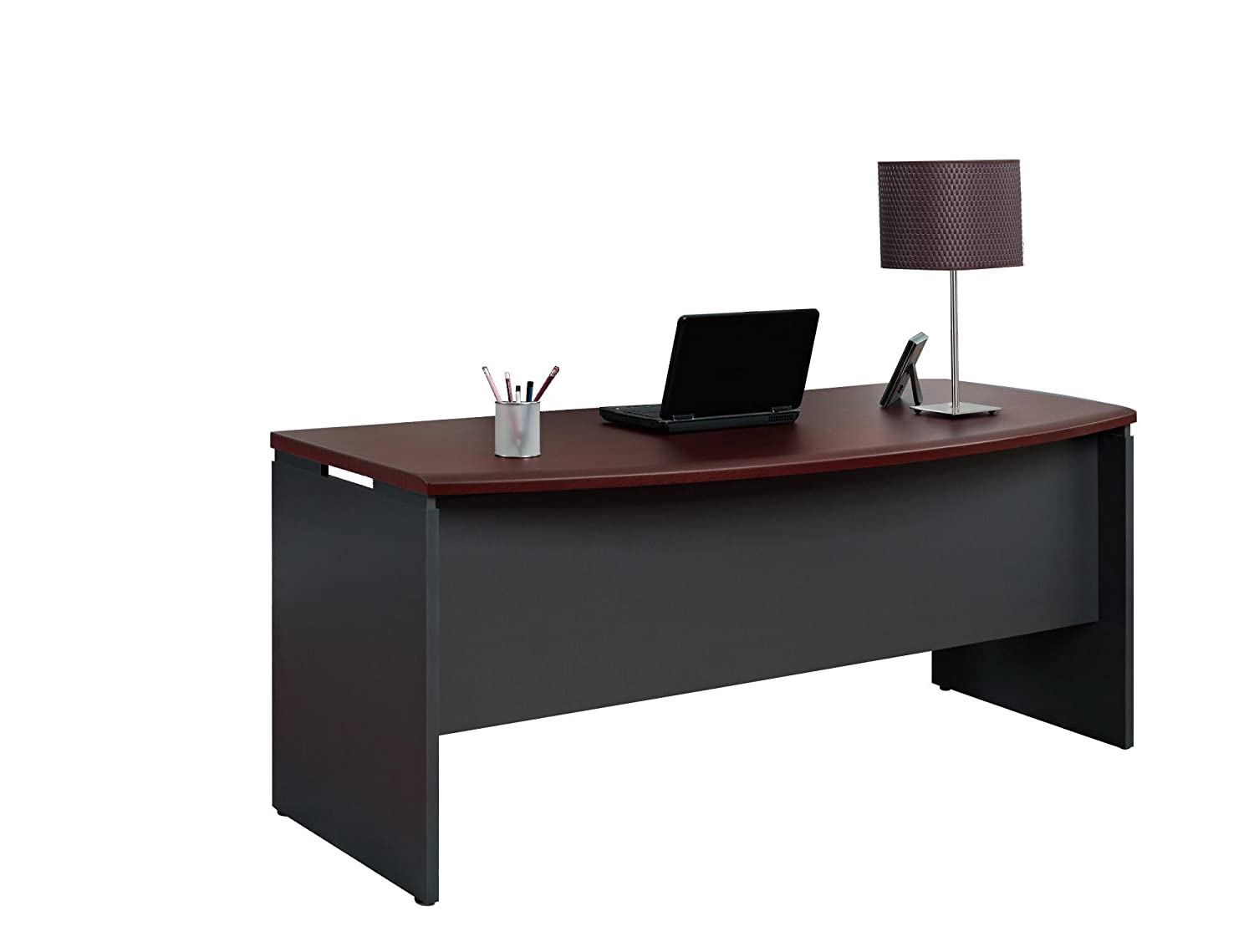 Amazon.com: Ameriwood Home Pursuit Executive Desk, Cherry: Kitchen U0026 Dining
