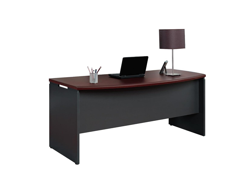 amazon com ameriwood home pursuit executive desk cherry kitchen
