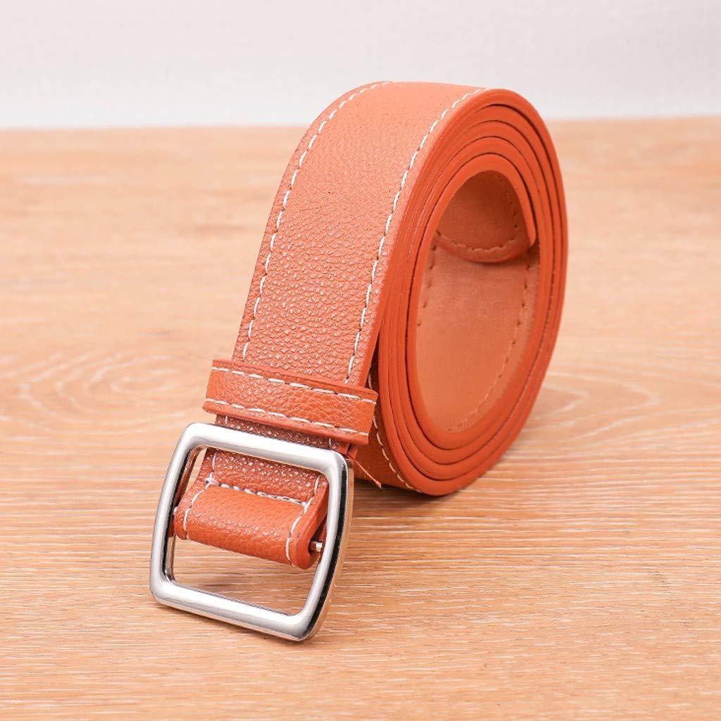 SUCES G/ürtel Herren Damen Casual Unisex Einfarbig LederG/ürtel Verstellbar Thin Belt Jeansg/ürtel Cool Leder G/ürtel Herren-G/ürtel