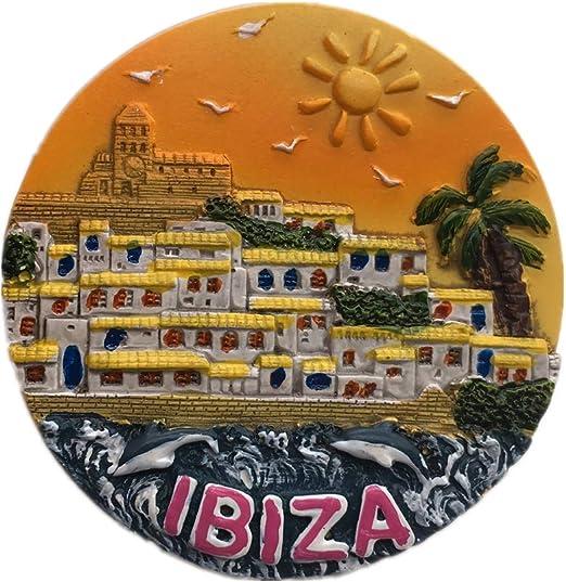 Weekinglo Souvenir Imán de Nevera Ibiza España 3D Resina Artesanía ...