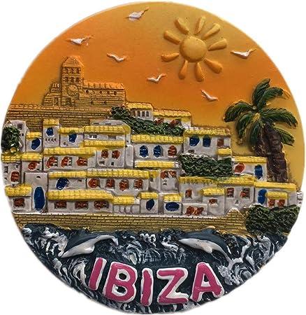 Weekinglo Souvenir Imán de Nevera Ibiza España 3D Resina Artesanía Hecha A Mano Turista Viaje Ciudad Recuerdo Colección Carta Refrigerador Etiqueta: Amazon.es: Hogar