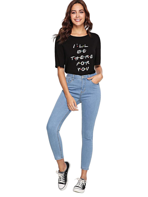 SheIn Womens High Waist Jeans Skinny Stretchy Denim Pants Blue Large