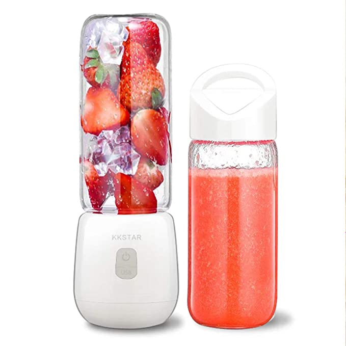 BNMYSY Mini Juicer Home Charging Portable Mixer Electric Small Juice Cup,White