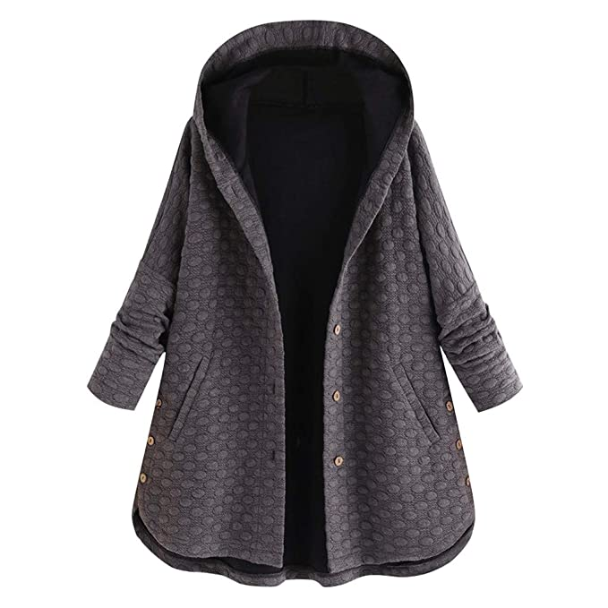 pre order new collection detailing Sunmoot Hoodie Coat for Womens Plus Size Winter Warm Long Sleeve Pocket  Oversize Parka Jacket(M~5XL)