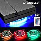 WOWLED Wireless IR Remote Control 24 keys RGB USB LED Thermal Case Fan Cooler Cooling Fan Pad Stand for PC Case CPU Cooler Computer Gaming PS4 Playstation 4 Consoles Laptop Notebook XBOX One Radiators