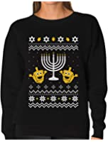 Tstars TeeStars - Funny Jewish Holidays Ugly Christmas Hanukkah Women Sweatshirt