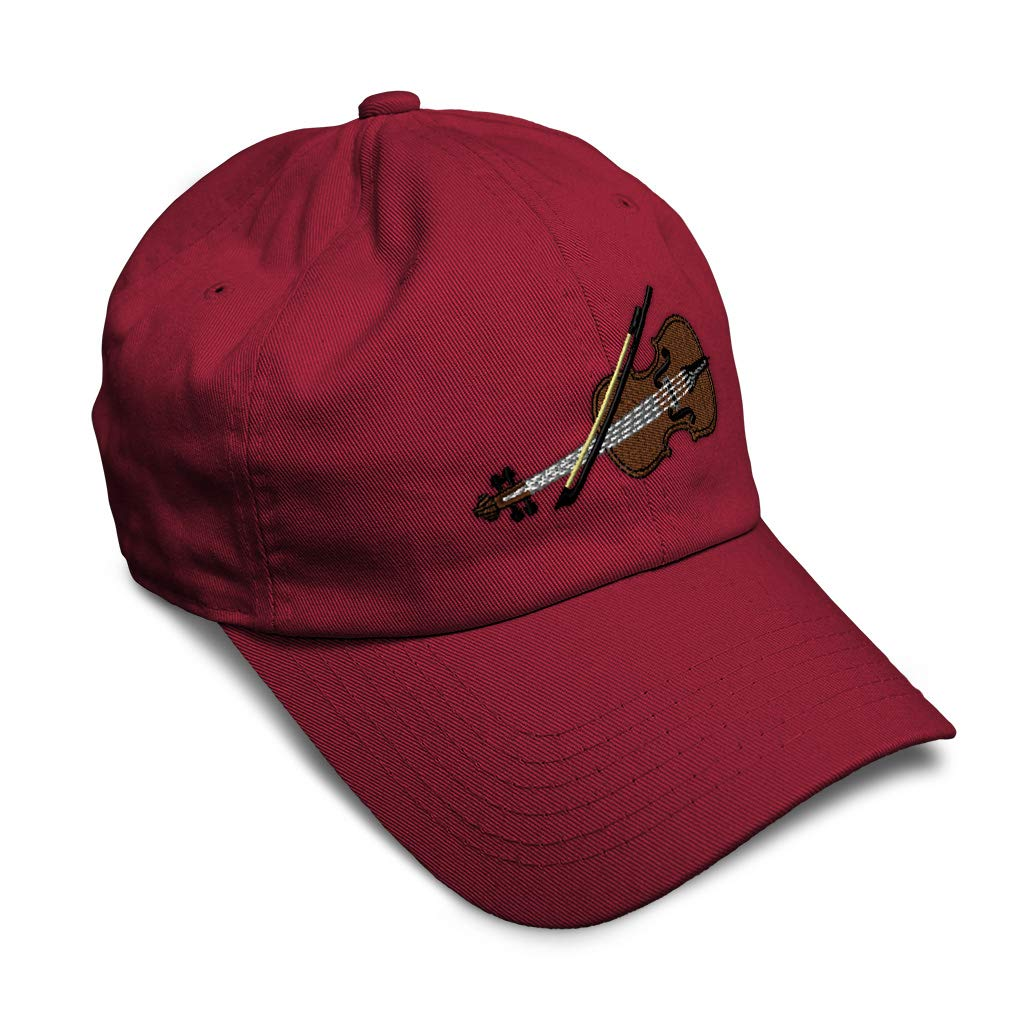 Custom Soft Baseball Cap Violin Style B Embroidery Dad Hats for Men /& Women