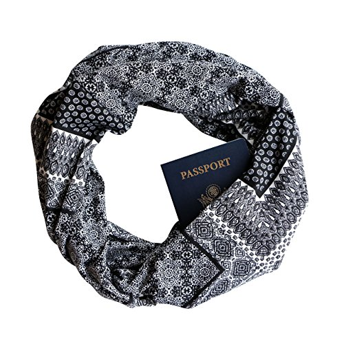 Canterbury Infinity Scarf with Zippered Secret Pocket