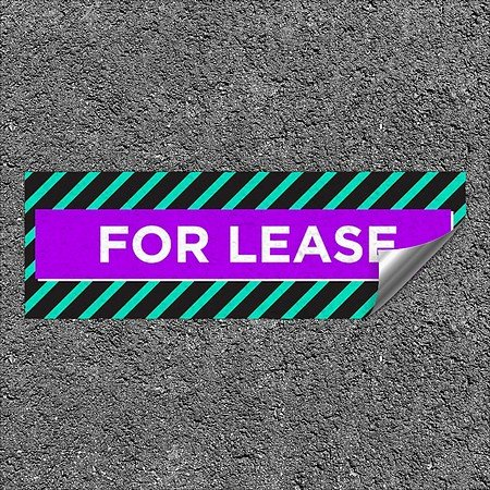CGSignLab |''for Lease -Modern Block'' Heavy-Duty Industrial Self-Adhesive Aluminum Wall Decal | 36''x12''