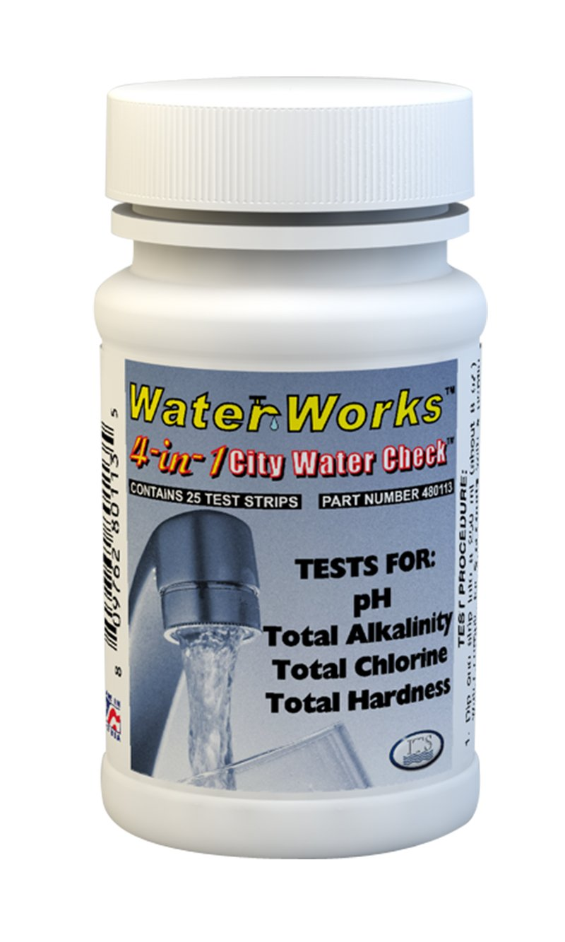 Industrial Test Systems WaterWorks 480113 4-in-1 City Water Check, 35 Seconds Test Time (Bottle of 25)