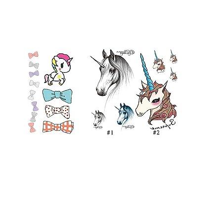 Nicole Diary 3 hojas de adhesivos con lazo de caballos Unicorn ...
