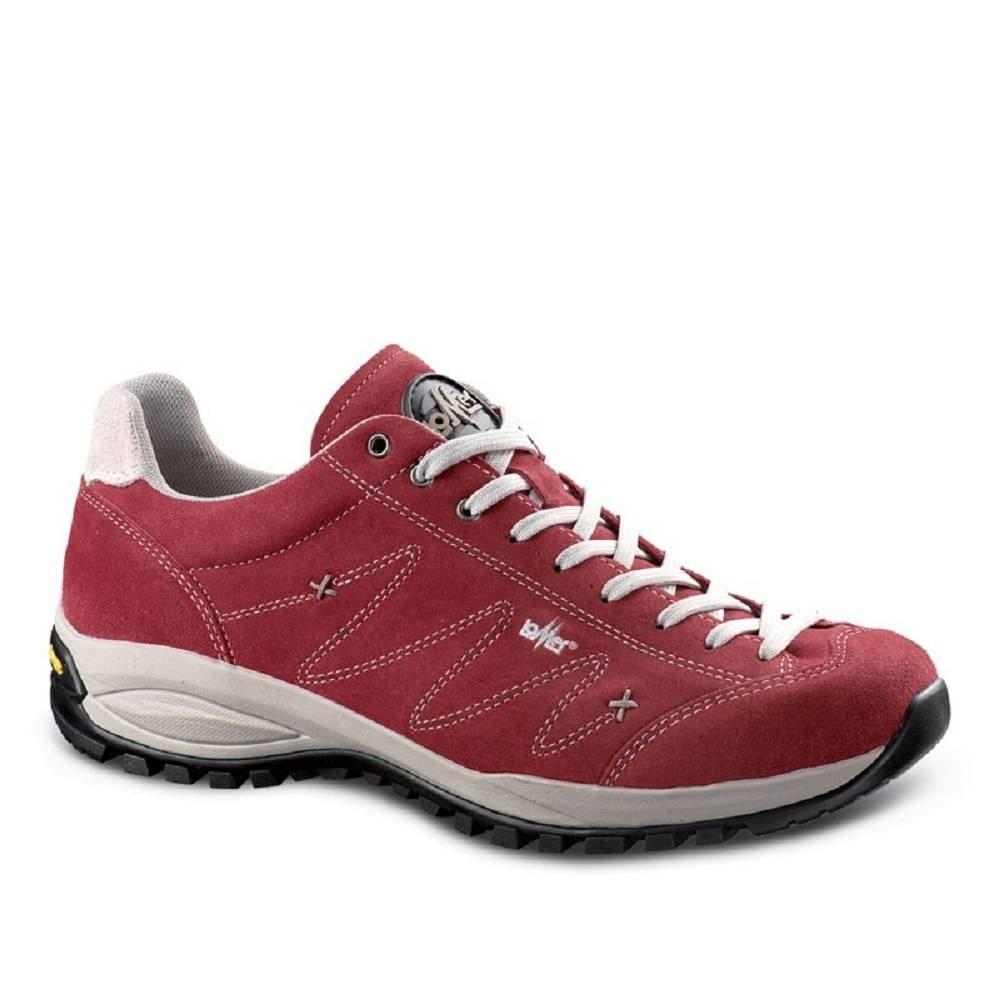 Lomer Zapatillas de Piel Para Hombre 46 EU|Rojo