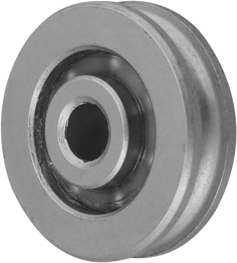 6x23x8mm Rodamiento Pasivo de acero Guía de la polea Rueda Rueda Rueda Rodillo Carga 167 KG para la cuerda de alambre de acero Rueda loca Paquete de 2: Amazon.es: Bricolaje y herramientas