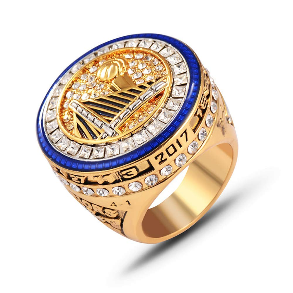 Flying Dreamer 2016-2017(Golden-State-Warriors) Championship-Rings-Size 11-Memorabilia with Beautiful Box
