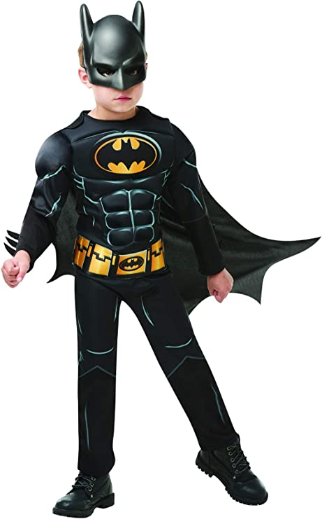 Luxuspiraten – Disfraz Infantil Black Core Batman Deluxe con una ...