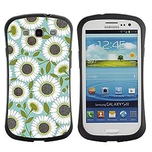 """Hypernova Slim Fit Dual Barniz Protector Caso Case Funda Para SAMSUNG Galaxy S3 III / i9300 / i747 [Patrón del trullo de oliva Flor Floral""""]"""
