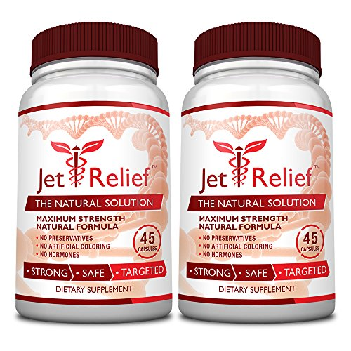 JetRelief - The #1 Choice for Jet Lag Relief - 100% Pure & Natural with NO MELATONIN- Helps Regulate Circadian Rhythm - With DMAE, Vitamin B and Magnesium - 100% Money Back - 6 Bottles Supply by JetRelief (Image #4)