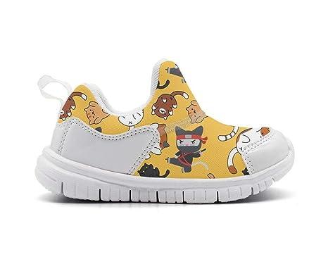 Amazon.com: ONEYUAN Children Yellow Ninja Stars and Cats Kid ...