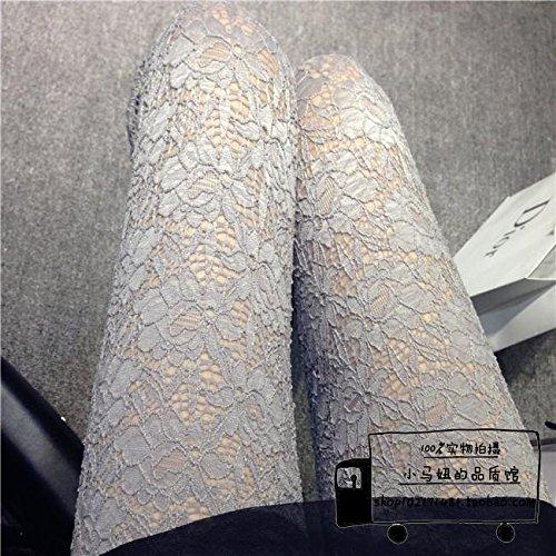 GaoXiao trois dimensions rétro évidé creux crochet fleur fine dentelle de pantalons,neuf gris foncé