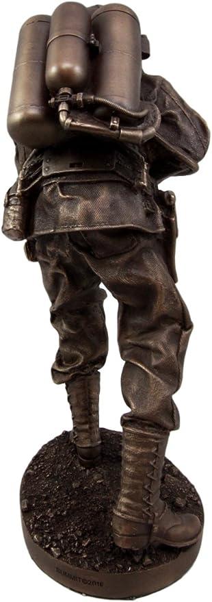 Atlántico Collectibles Militar WW2 lanzallamas terreno tropas soldado – Figura decorativa (12 cm de alto