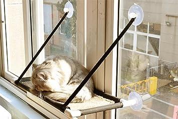 Hamaca para Gatos Artículos para Mascotas Ventana para Gatos con Ventana Extraíble Y Lavable con Una Sola Ventana para Ventosas: Amazon.es: Hogar